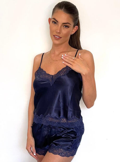 Marnie satin and lace cami set