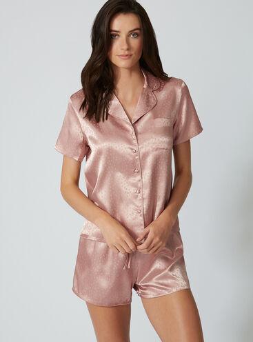 Satin jacquard pyjama set