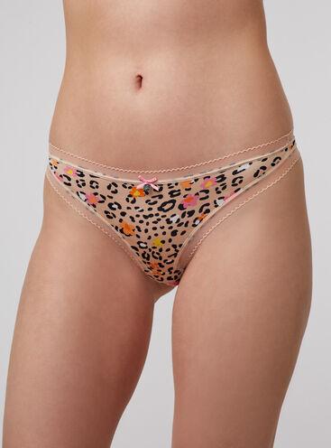 Lillie leopard thong