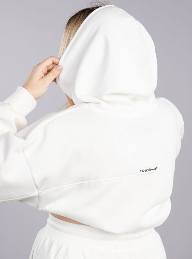 Panelled lounge hoodie