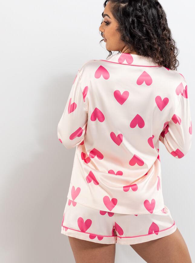 Heart print revere & short set