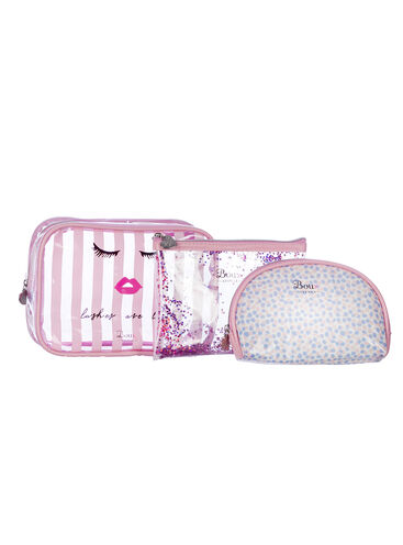 Set of 3 makeup bags