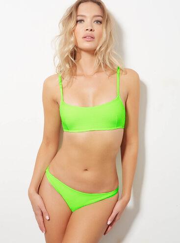 Ribbed Brazilian bikini briefs
