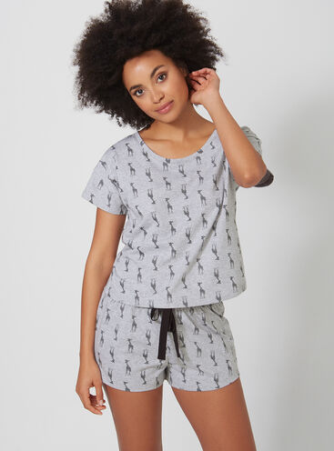 Giraffe tee and shorts set