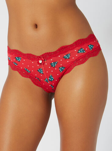 Tatiana Christmas tree Brazilian briefs