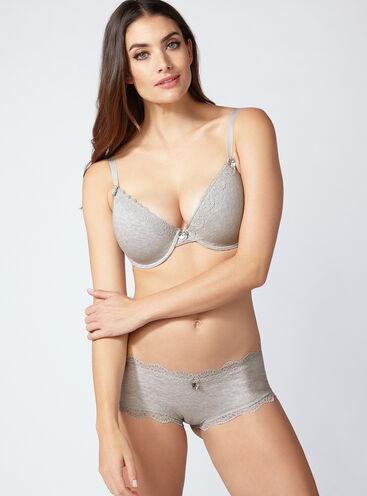 Tatiana cotton plunge T-Shirt lingerie set