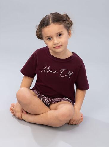 "Girls ""mini elf"" tee and short set"