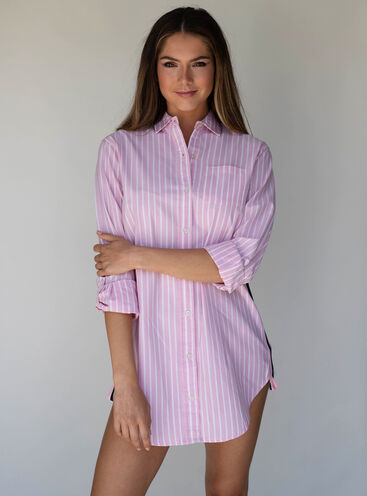Stripe tape nightshirt