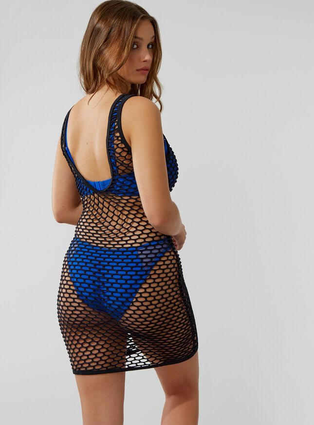 Fishnet beach dress