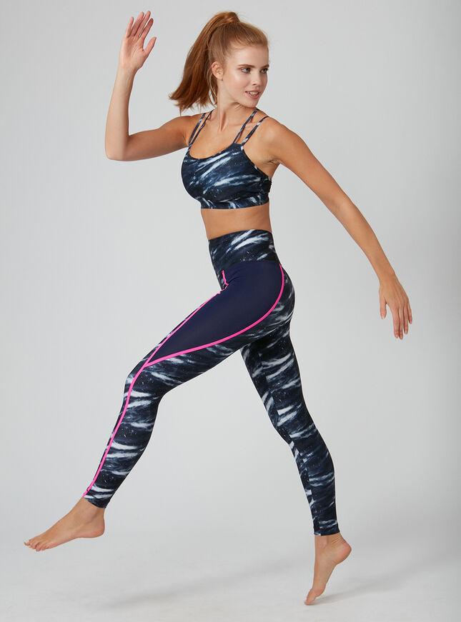 Activewear galaxy strappy crop top