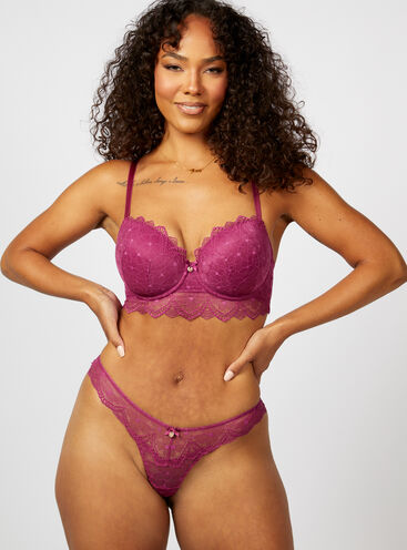 Hattie floral lace tanga thong