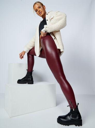 PU leather-look high waist leggings