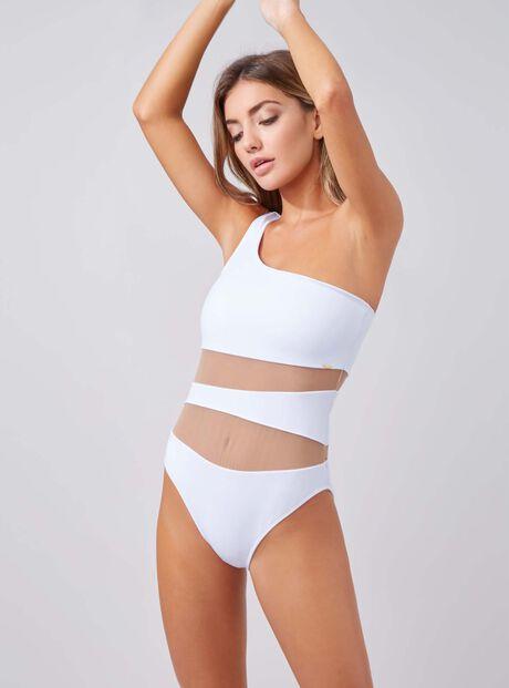 Larnaca one shoulder swimsuit