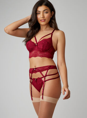 Odette deco suspender belt