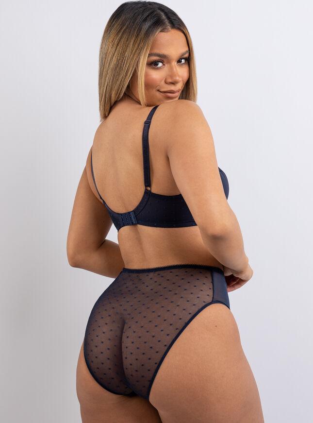 Kristie spot balconette lingerie set