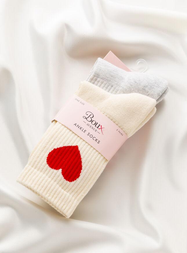 2 Pack heart socks