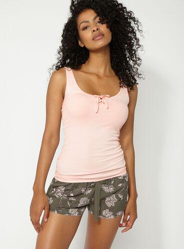 Paisley vest and shorts pyjama set