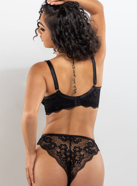 Stephanie floral lace brief