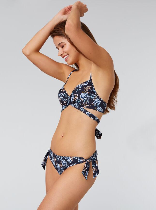 Santiago printed bikini top