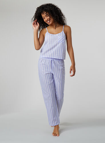 Soft stripe cami and pants pyjama set
