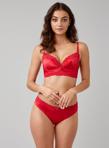 Alisha satin Brazilian briefs