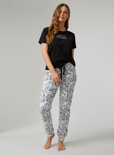 """Wild at heart"" tee and joggers set"