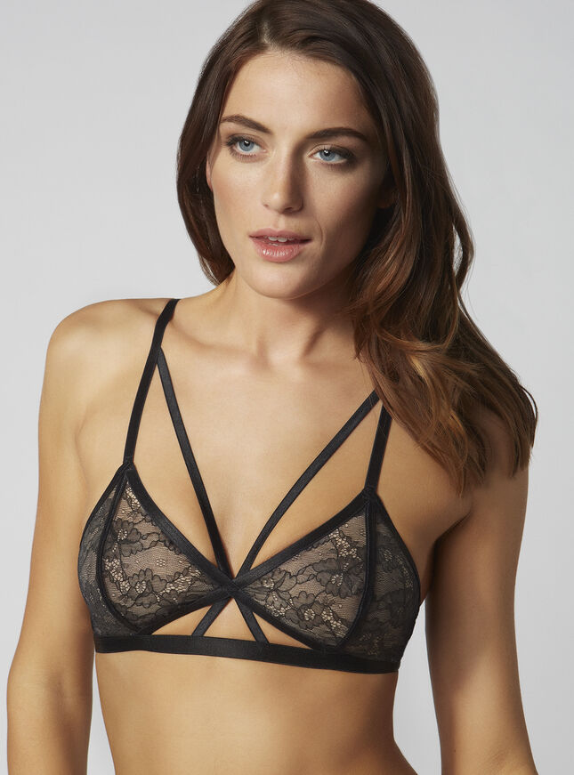 Rowena strappy triangle bra