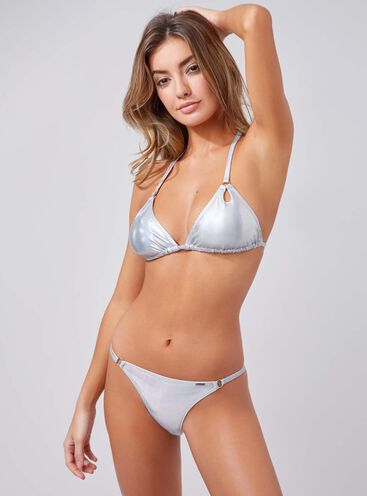 Sassel metallic bikini briefs