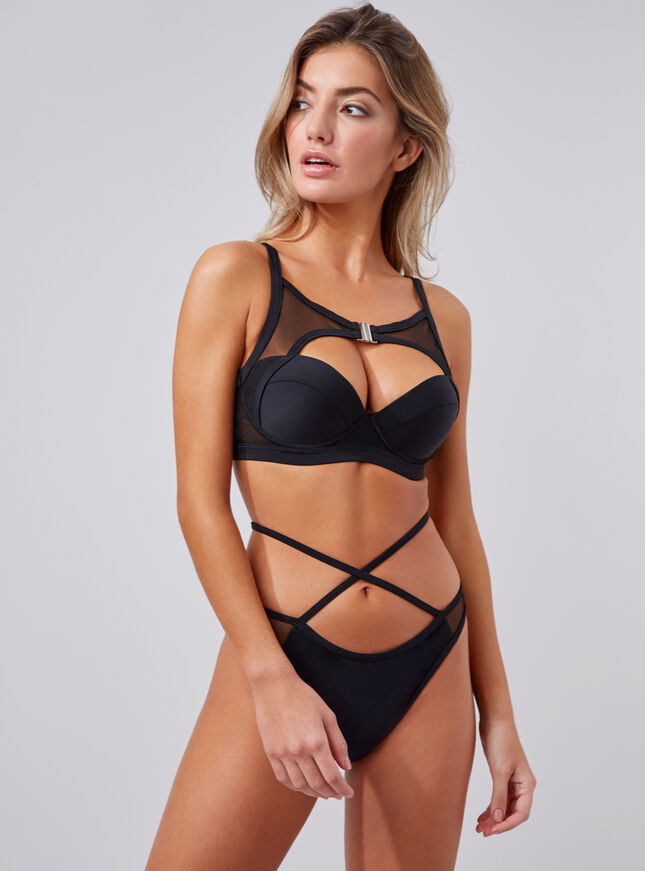 Bondi high neck bikini top