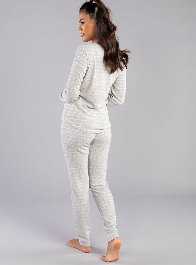 Racoon stripe legging set
