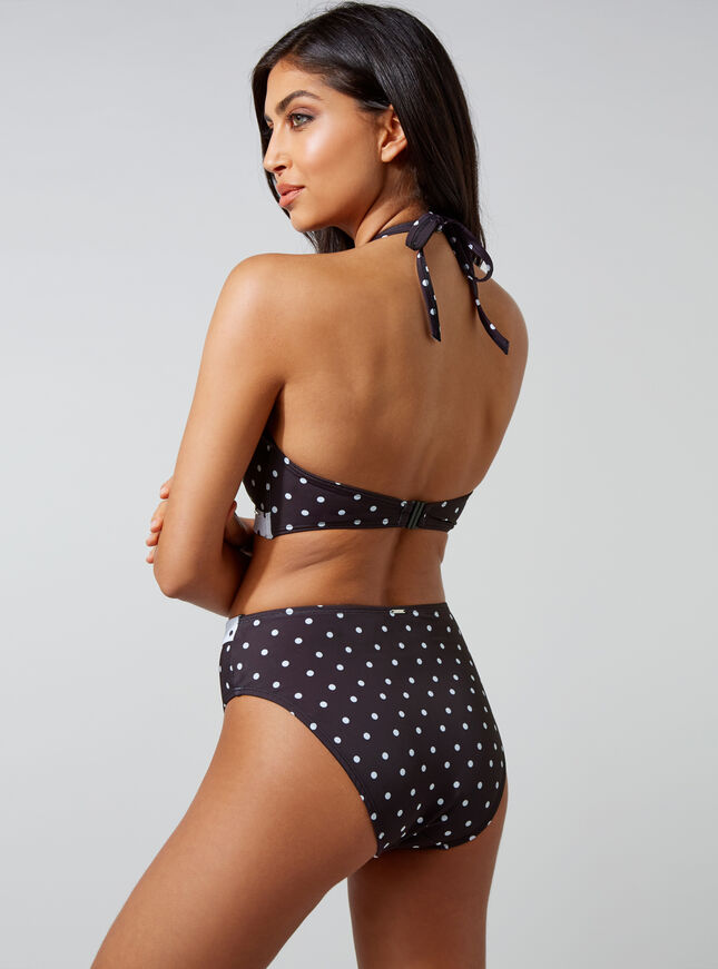 Janeiro spot high-waisted bikini briefs