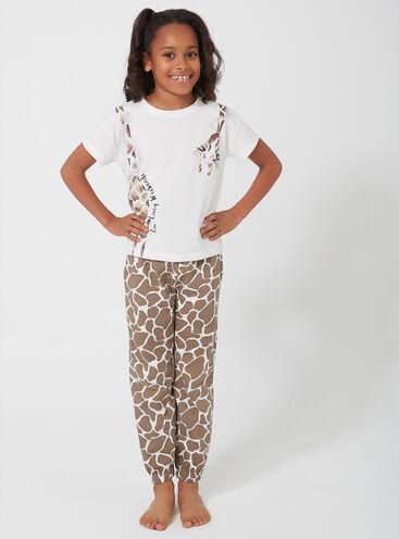 Girls giraffe pyjama set