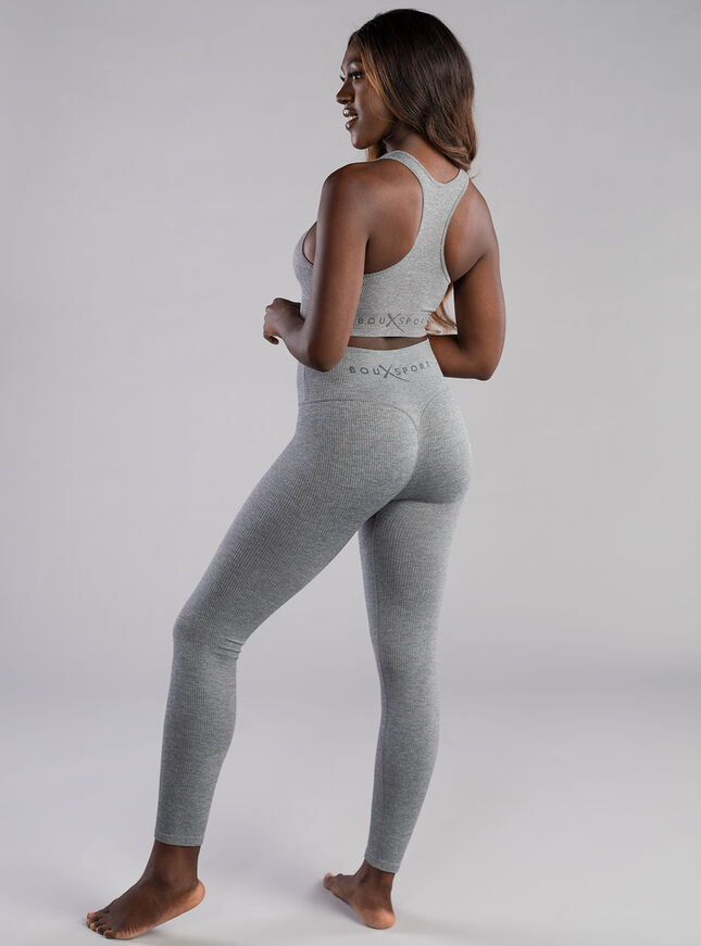 Boux Sport Smoothing ribbed seamless leggings