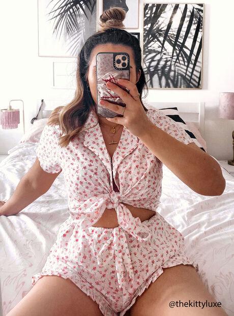 Ditsy floral pyjama set