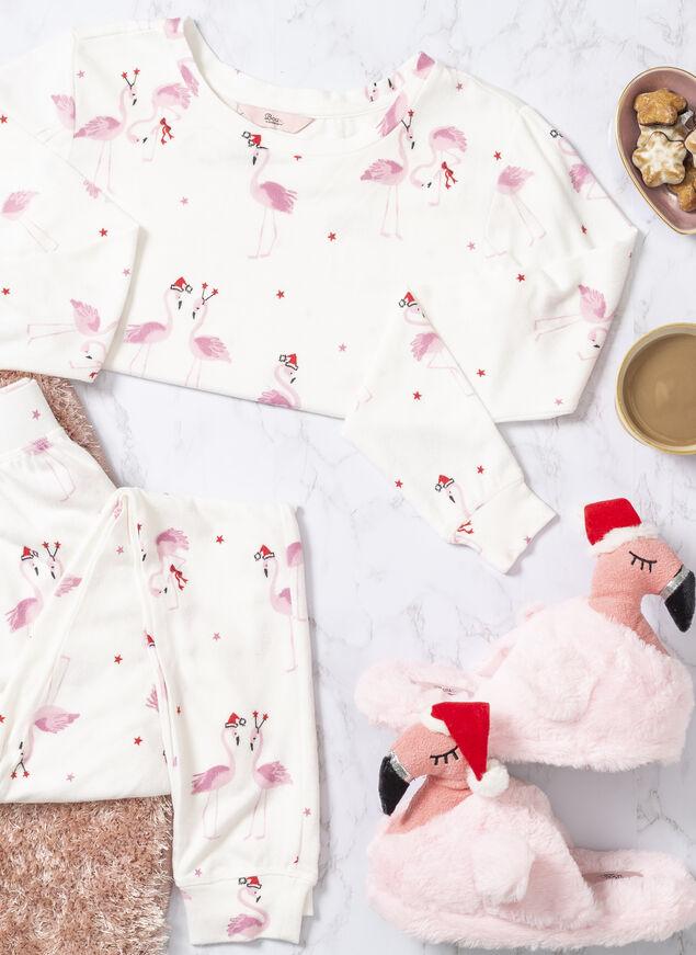Xmas flamingo print twosie
