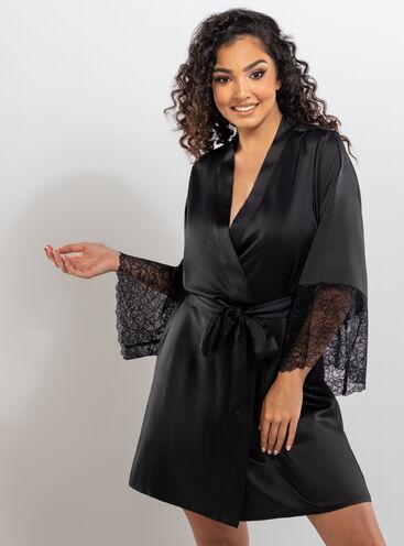 Harlie lace robe