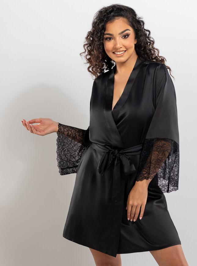 Harlie lace midi glamour robe