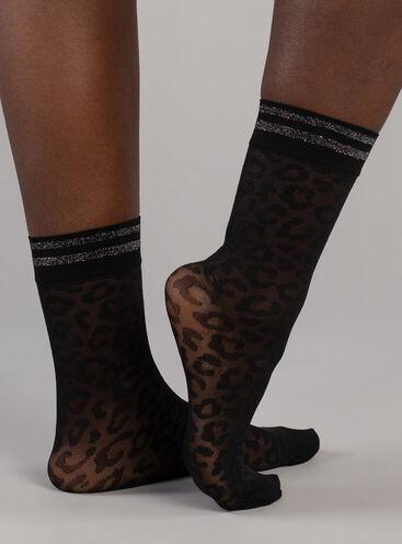 Leopard print sock