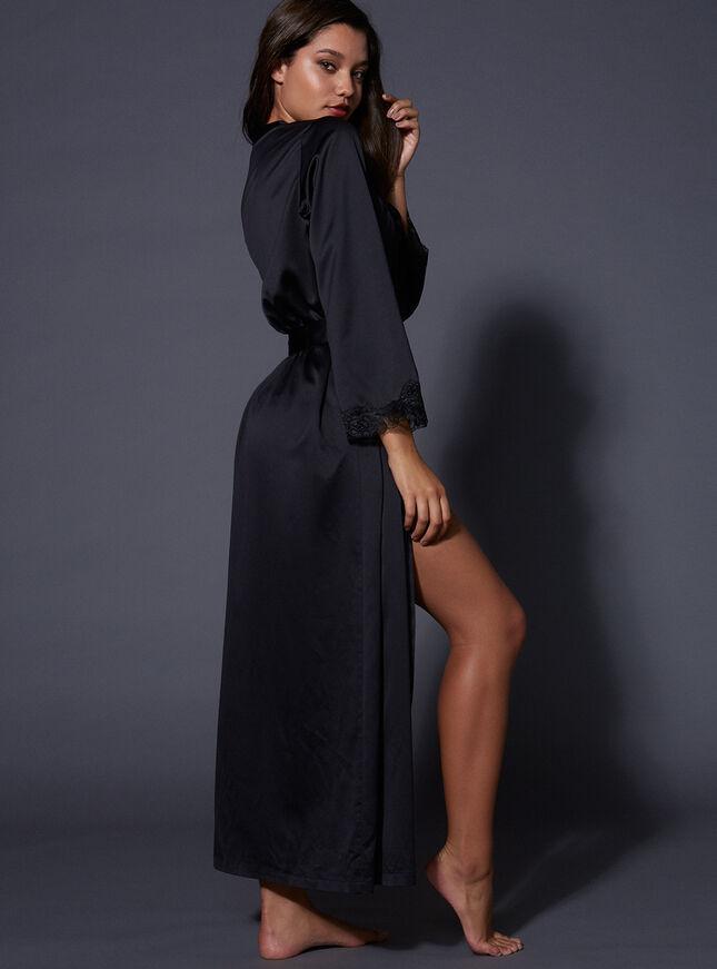 Frances long satin robe
