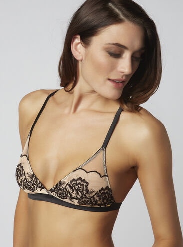 Jennifer embroidered triangle bra