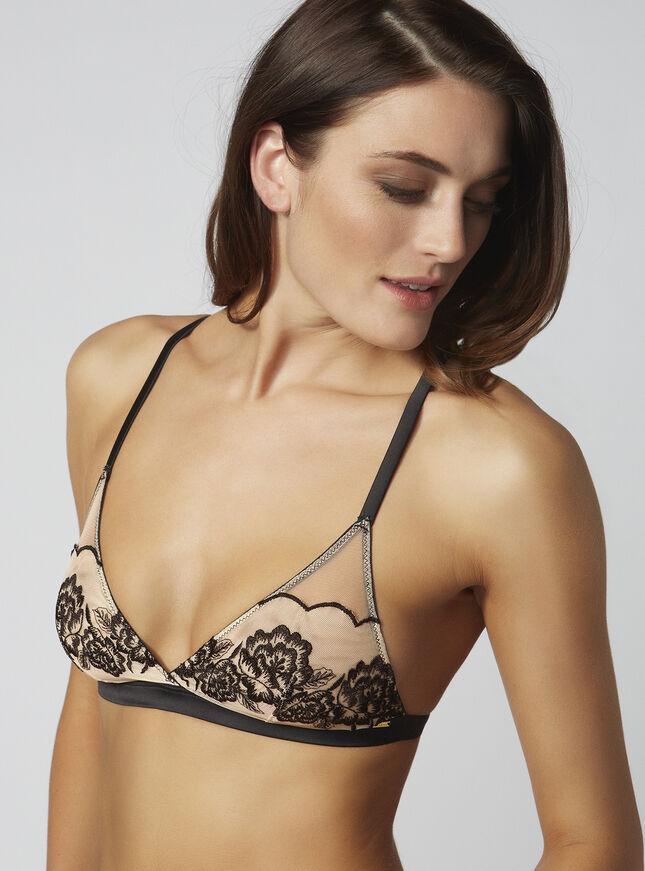 Jennifer embroidered triangle bra