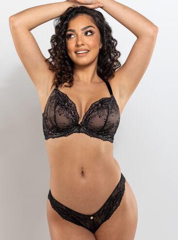 Kadie unpadded plunge lingerie set