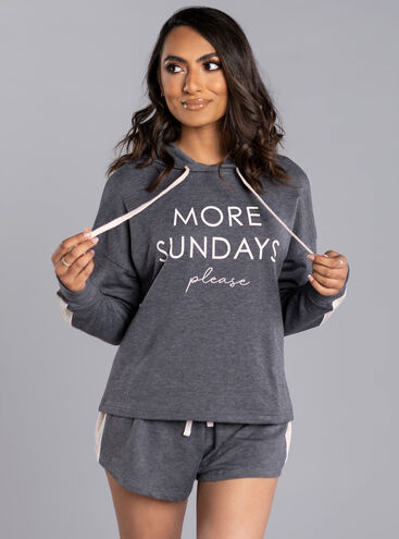 More sundays' please hoody & short
