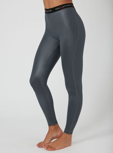 Activewear metallic leggings
