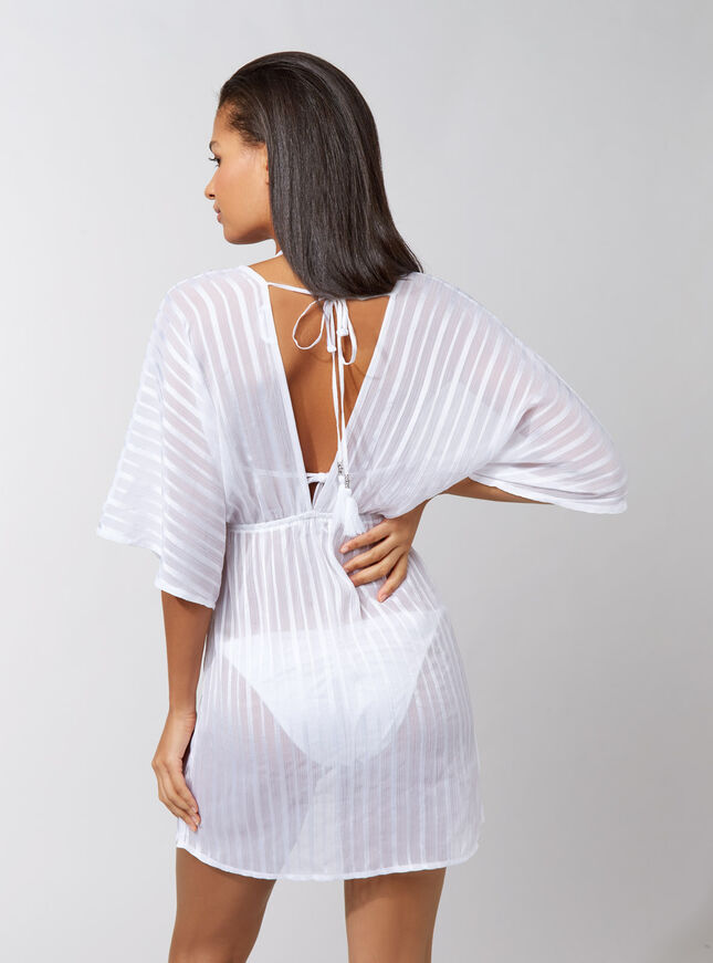 Lace up short kaftan