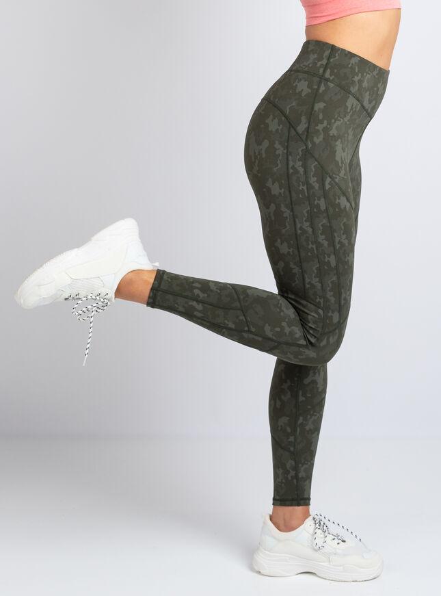 Boux Sport camo jacquard leggings