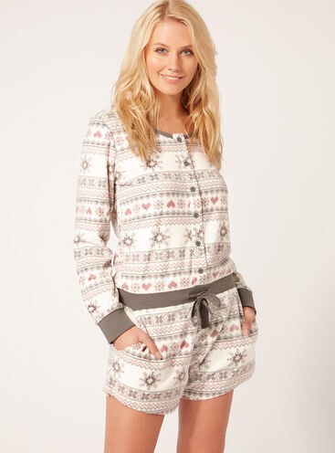 Fairisle playsuit