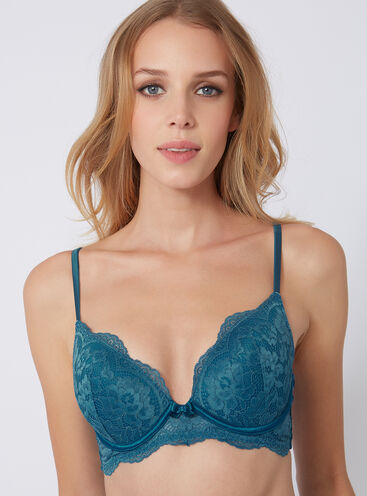 Bouxtique lace padded plunge bra