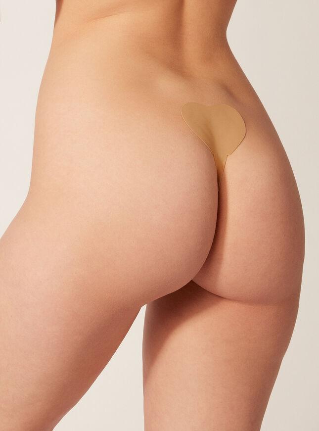 Stick-on thong