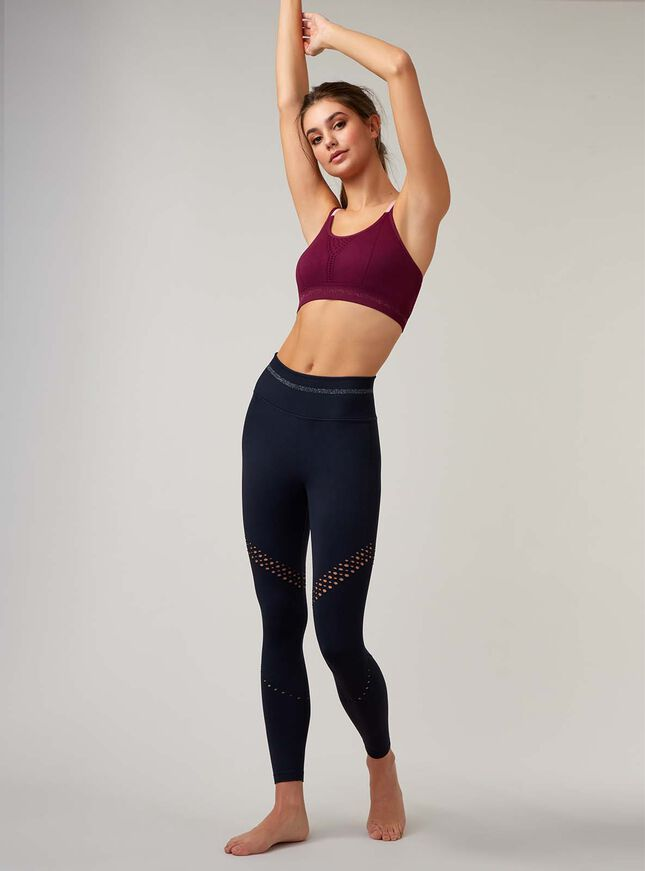 Boux Sport textured rib crop top